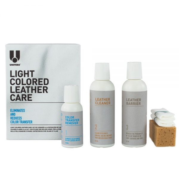uniters light colored leather care